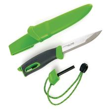Morakniv Mora of Sweden/Light My Fire Green FireKnife 3.625 inch Stainless Steel Blade, Green Rubber Handle, Fire Starter