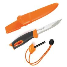 Morakniv Mora of Sweden/Light My Fire Orange FireKnife 3.625 inch Stainless Steel Blade, Orange Rubber Handle, Fire Starter