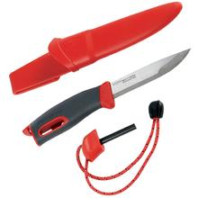 Morakniv Mora of Sweden/Light My Fire Red FireKnife 3.625 inch Stainless Steel Blade, Red Rubber Handle, Fire Starter