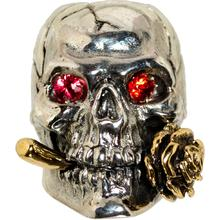 GD Skulls USA KC4-A Rose Skull 2 with Bejeweled Eyes