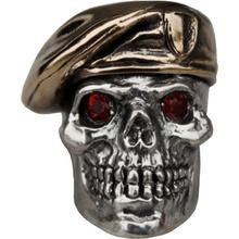 GD Skulls USA SP3-A Beret Skull 2 with Bejeweled Eyes