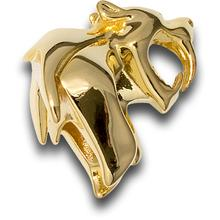 HEAdesigns Brass Sabertooth Bead, Chrome Gold