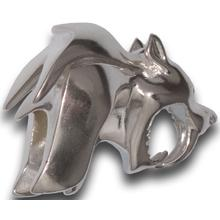 HEAdesigns Silver Sabertooth Bead, Mirror Polished