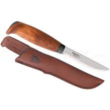 Helle Tollekniv Fixed 4 inch Blade, Birch Wood Handle, Genuine Leather Sheath