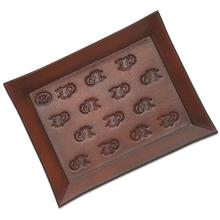 Rick Hinderer Knives Leather Valet Tray, 10 inch X 8 inch, Rectangle