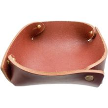 Hollows Leather Panhandler EDC Valet Tray, Brown