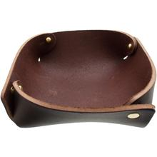 Hollows Leather Panhandler EDC Valet Tray, Dark Brown