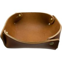 Hollows Leather Panhandler EDC Valet Tray, Light Brown