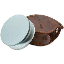Hults Bruk 180/600 Grit Grinding Stone, 2.875 inch Diameter, Leather Case