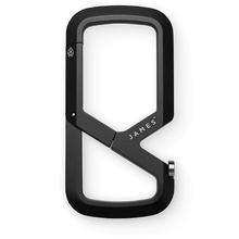 The James Brand Mehlville Carabiner/Bottle Opener, Black Aluminum