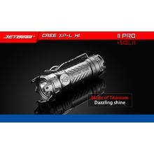 JETBeam Jet-II Pro Limited Edition LED Flashlight, Titanium, 510 Max Lumens
