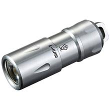 JETBeam MINI-1 Rechargeable Stainless Steel LED Flashlight 1x10180, 130 Max Lumens