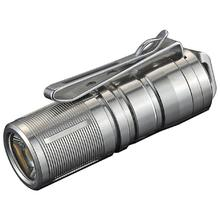 JETBeam MINI-Ti Rechargeable Titanium LED Flashlight 1x10180, 130 Max Lumens