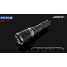 JETBeam RRT2-COLOR Aluminum LED Flashlight 2xCR123, 850 Max Lumens