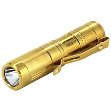 JETBeam TEA20 Limited Edition 24K Gold Plated Titanium LED Flashlight 1xAA, 420 Max Lumens