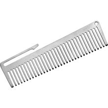 John Gray Small Titanium Comb with Pocket Clip, 3.375 inch Overall