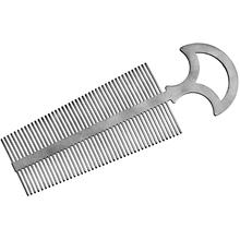 John Gray Large Titanium Double Tooth Comb with Handle, 6.25 inch Overall
