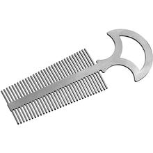 John Gray Small Titanium Double Tooth Comb with Handle, 5.05 inch Overall