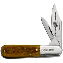 John Primble Belknap Barlow w/2 Carbon Steel Blades, Antiqued Green Jigged Bone Handle