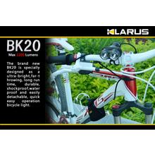 Klarus BK20 Bicycle LED 4x18650 Twin Head Flashlight, Military Gray Body, 1200 Max Lumens