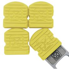 Klecker Stowaway Tool Caps, Yellow, Pack of 6
