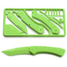 Klecker Trigger Folding Plastic Knife Kit 3.2 inch Blade, Zombie Green