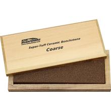 KME Sharpeners  inchSuper-Tuff inch Ceramic Sharpening Stone, Coarse, Wooden Case