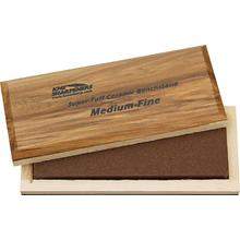 KME Sharpeners  inchSuper-Tuff inch Ceramic Sharpening Stone, Medium/Fine, Wooden Case