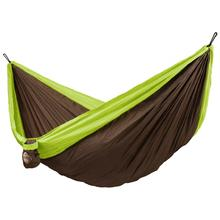 La Siesta Colibri Double Travel Hammock, Parachute Silk, Green