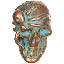 Kirby Lambert/Bill Wall Leather Custom Copper Skull Bead