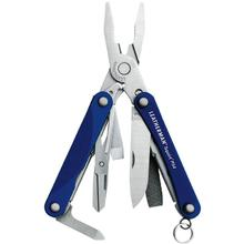 Leatherman Squirt PS4 Keychain Mini Multi-Tool, Blue Aluminum Handles