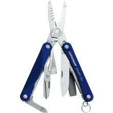 Leatherman Squirt ES4 Keychain Electrician's Mini Multi-Tool, Blue Aluminum Handles
