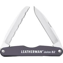 Leatherman 832364 Juice B2 Pocket-Size 2-Blade Folding Knife, Granite Gray