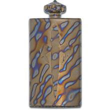 Marfione Custom Blood & Iron Tactical Tall Flask, Flamed Titanium with Spin Top