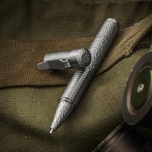 Matthew Martin Custom 500TiT Textured Titanium Screw Cap Tactical Pen, 5 inch Overall, KnifeCenter Exclusive