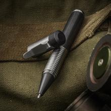 Matthew Martin Custom 500TiZrZr Titanium and Zirconium Screw Cap Tactical Pen, 5 inch Overall