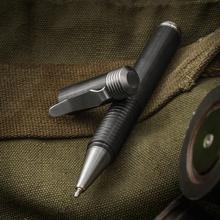Matthew Martin Custom 500ZrTi Zirconium and Titanium Screw Cap Tactical Pen, 5 inch Overall