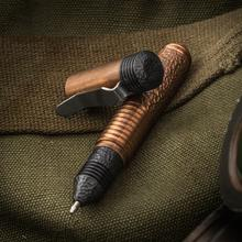 Matthew Martin Custom M500CuZrT Textured Copper and Zirconium Mini Screw Cap Tactical Pen, 3.625 inch Overall, KnifeCenter Exclusive