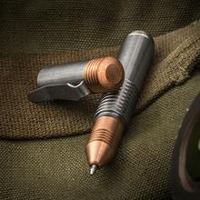 Matthew Martin Custom M500TiCu Titanium and Copper Mini Screw Cap Tactical Pen, 3.625 inch Overall, KnifeCenter Exclusive