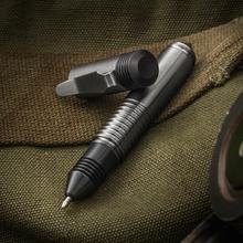 Matthew Martin Custom M500TiZr Titanium and Zirconium Mini Screw Cap Tactical Pen, 3.625 inch Overall, KnifeCenter Exclusive