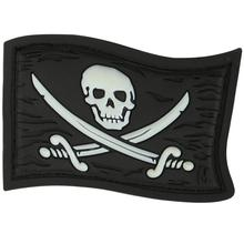 Maxpedition JYRGZ PVC Jolly Roger Patch, Glow