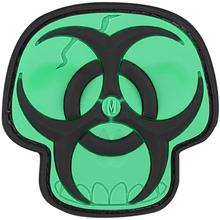 Maxpedition PVC Biohazard Skull Patch, Glow