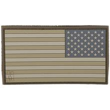 Maxpedition PVC Large Reverse USA Flag Patch, Arid