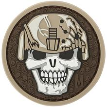 Maxpedition SLDKA PVC Soldier Skull Patch, Arid