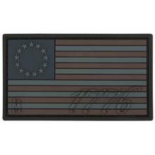 Maxpedition US76X PVC 1776 US Flag Patch, Stealth