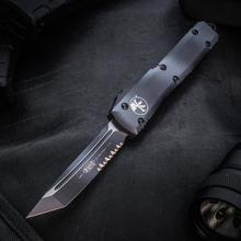 Microtech 123-2UC Ultratech AUTO OTF 3.46 inch Urban Camo Tanto Combo Blade and Aluminum Handle