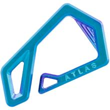 Jason Tietz Custom Atlas Key Hook, Blurple Titanium, 2.46 inch Overall