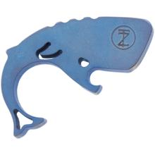 Moby Whalers Blue and Bronze Anodized 0.29 inch Thick Titanium Mini Moby Whaler Bottle Opener