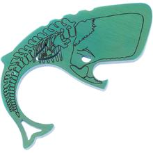 Moby Whalers 0.29 inch Thick Green Skully Titanium Moby Whaler V3 Bottle Opener