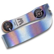 Mummert Knives Custom Flamed Titanium Clip with Mounting Hardware